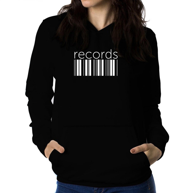 Records barcode Women Hoodie