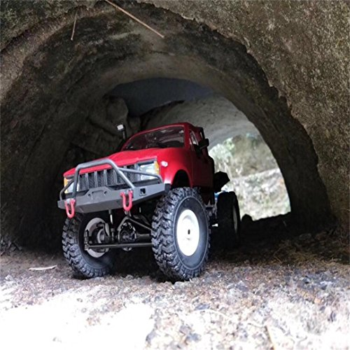 Excellent 1:16 WPL C14 Scale 2.4G 2CH 4WD Mini Off-road RC Semi-truck RTR Kids Climb Truck Dreamyth (red)