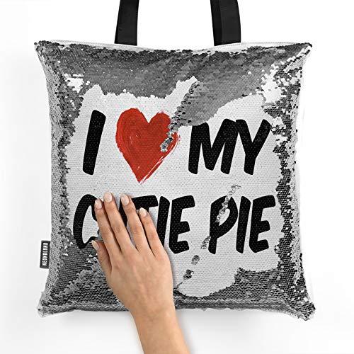 NEONBLOND Mermaid Tote Handbag I Love my Cutie Pie Reversible Sequin