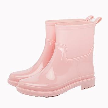 YDYLZC- Mode wasserdicht Regen Stiefel, Frühjahr und Sommer neue Mode Rohr wasserdichte Stiefel Anti-Rutsch-Wasser Schuhe Schuhe Gummischuhe Erwachsene Stiefel Frauen weich (Farbe : E, größe : 39#)