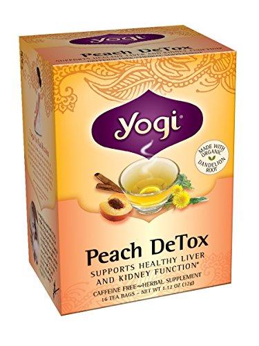Yogi Tea Peach DeTox, 16 sachets de thé (pack de 6)
