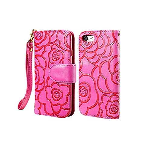 MEGOOD PU with PC Mobile Phone Shell for Iphone 7 Camellia Holsters Clips Cases for Iphone (One Direction Phone Case Cheap)
