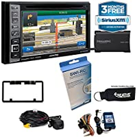 Alpine INE-W960HDMI Audio/Navigation System, Sirius XM tuner, Steering Wheel Control Interface & Backup Camera bundle