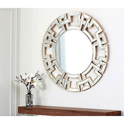 Used, Abbyson Living Pierre Gold Round Wall Mirror for sale  Delivered anywhere in USA