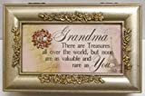 Cottage Garden Grandma Champagne Silver Petite Rose Music Box / Jewelry Box Plays You Light Up My Life