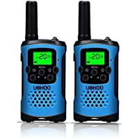 Kids Walkie Talkies, UOKOO 4-Mile Range 22-Channel FRS/GMRS Pair of Walkie Talkies for Kids Toys (1 Pair) Blue