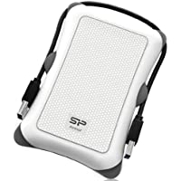 Silicon Power 2TB Rugged Armor A30 Military Grade Shockproof USB 3.0 2.5 Inch Portable External Hard Drive for PC, Mac, Xbox One, Xbox 360, PS4, PS4 Pro and PS4 Slim, White