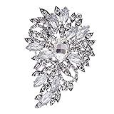 Clear Rhinestone Brooch Women Jewelry Broaches Pins Flower Wedding Bouquet Birthday Gifts 4080