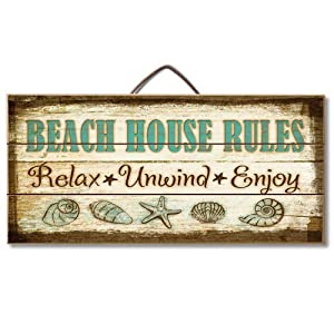 51Yn9dr8qnL._SS300_ Wooden Beach Signs & Coastal Wood Signs