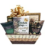 Sympathy Gift Basket with Book: Chicken Soup for the Grieving Soul and Gourmet Food Gift Basket