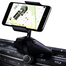 Ipow Universal One Touch Installation CD Slot Smartphone Car Mount Holder Cradle for iPhone 6 Plus 6 5S 5C 5 4S 4,iPod Touch, Samsung Galaxy S5 S4 Galaxy Note 2 Note 3, Nexus 5, S, HTC One X, S, Motorola Droid Razr HD, Maxx, Nokia Lumia 920, BlackBerry Z10 Torch, LG Optimus G and GPS Devices in Black