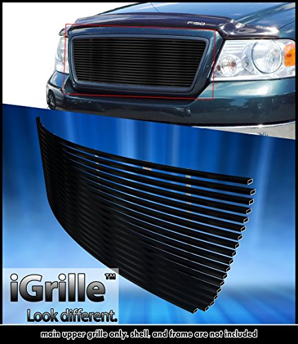 2004 F150 Grill (Black Stainless Steel eGrille Billet Grille Grill For 04-08 Ford F-150 Honeycomb Style)
