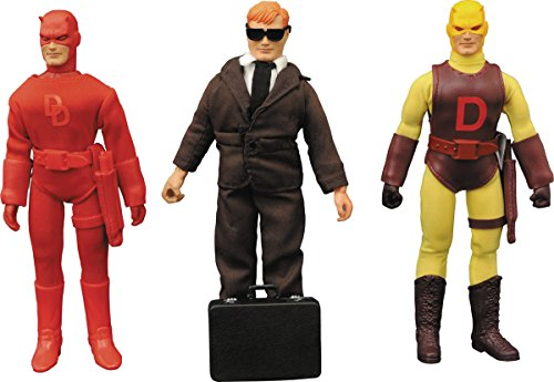 Diamond Select Toys Marvel Retro Cloth Daredevil Action Figure Gift Set