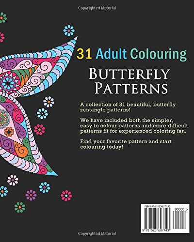 Amazon adult coloring books butterfly zentangle patterns 31 amazon adult coloring books butterfly zentangle patterns 31 beautiful stress relieving butterfly coloring designs hobby habitat coloring books fandeluxe Image collections
