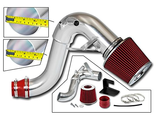 Filter Combo RED for 11-14 Hyundai Sonata 2.0L Turbo /// / 11-15 Kia Optima 2.0L Turbo Cold Air Intake System with Heat Shield Kit
