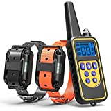 Training Dog Collar - Dog Training Collar, Cambond Dual Dog Shock Collar with Remote 2600ft Control Waterproof Electronic Dog Collar for Medium and Large Dog with 4 Training Modes Light Shock Vibration Beep