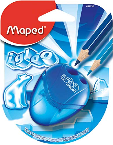 Maped I-Gloo 2 Hole Sharpener, Assorted Colors (634756TA)