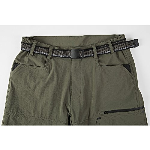 Men's Quick Dry Stretch Hiking Shorts Ribstop Fishing Cargo Shorts for Outdoor