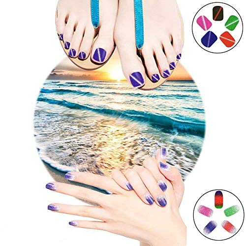 Nail Polish Wraps Sparkly Nail Art Stickers For Women Girls Finger Toe Nail Gift Pack 10 Sheets,VIWIEU Glitter Fake Nail Tips Thanksgiving Christmas DIY Manicure and Pedicure Set