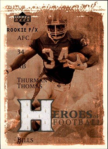 2001 Upper Deck Rookie F/X Heroes of Football Jerseys #HFTT Thurman Thomas Jersey - NM-MT