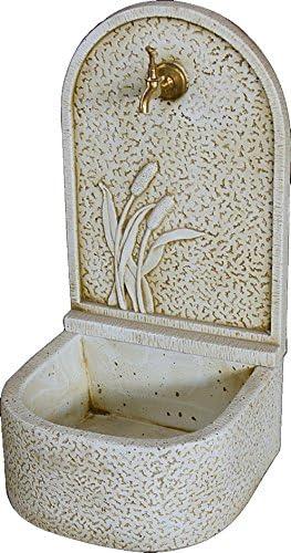 CATART Fuente de jardín Pared en hormigón-Piedra Espiga Exterior 36X36X70cm.: Amazon.es: Jardín
