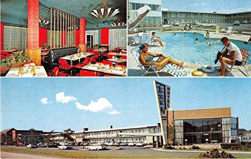Arlington Virginia views of Arva Motor Lodge pool dining room vintage pc Y3372