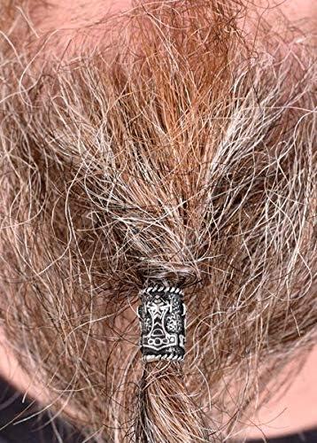 Perle /à barbe//dreadlock style Viking avec marteau de Thor En argent v/éritable