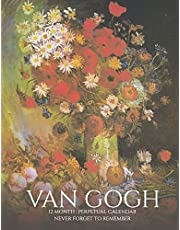 Perpetual Calendar: Van Gogh Paintings, Birthday Book & Anniversary Calendar 8.5x11 Special Event Reminder Book Journal Family Planner Date Keeper for Home Office Work Church School College