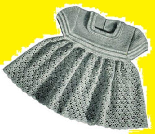 Crochet Vintage Little Girl's Dress Pattern - Download Crochet Dress Pattern for Little Girl - Crocheted Cute Dress Pattern