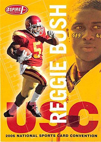 Reggie Bush football card (USC Trojans) 2006 Aspire #1 National Pre Rookie