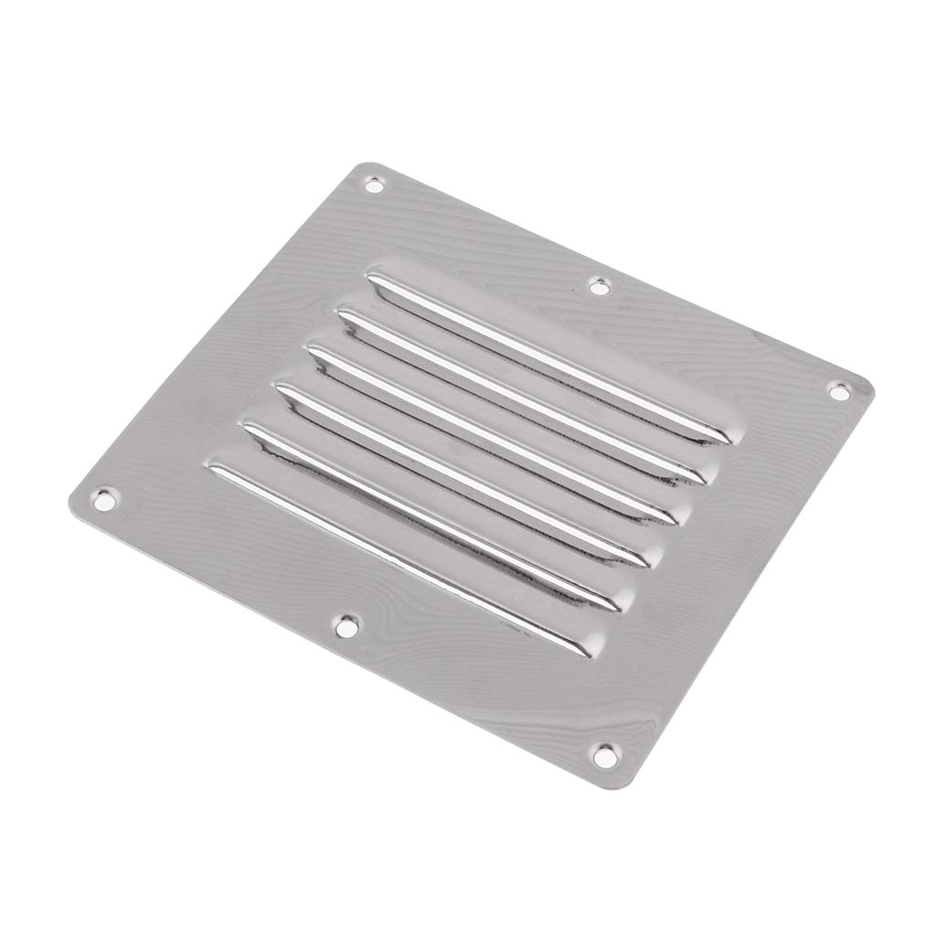 B Blesiya Boat 304 Stainless Steel Air Vent Grill Cover Ventilation Louver 127 x 114mm