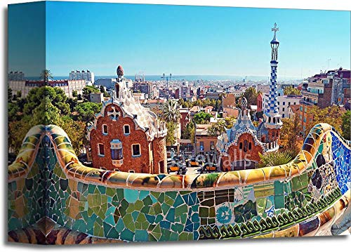 (Park Guell in Barcelona - Spain Gallery Wrapped Canvas Art (8in. x 10in.))
