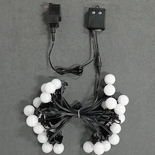 LED RGB G40 12'' Spacing Light Strings, 25 Lights, 25' Run, With Power Supply & Remote Controller by Minleon (Image #4)