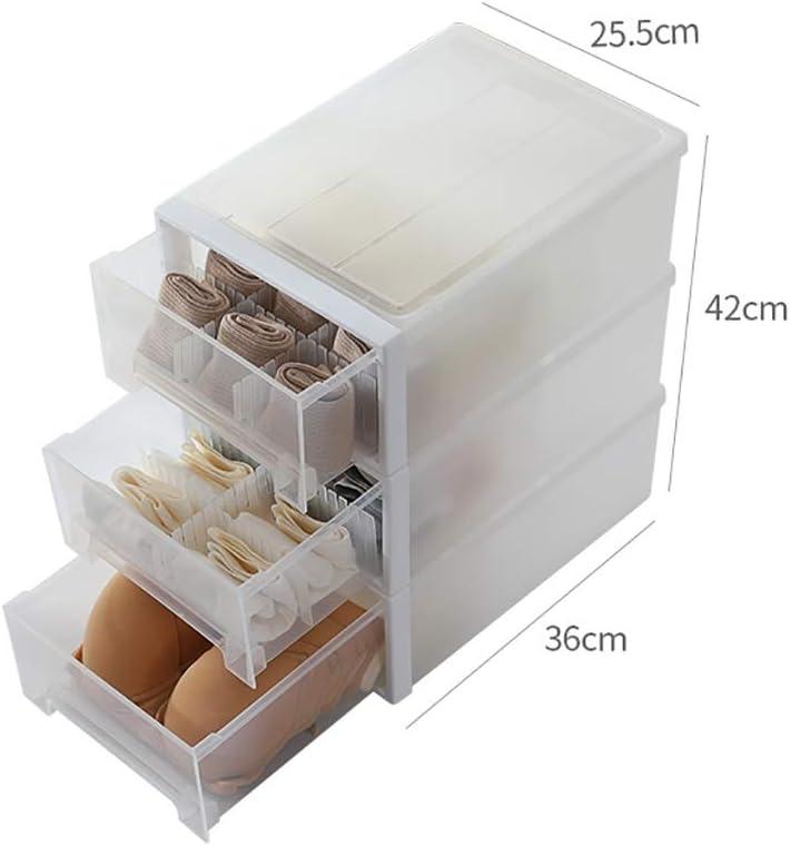 Organizadores de cajones Caja de Almacenamiento de 43 cm de Alto, Caja de plástico for guardarropa, Caja de Almacenamiento Opcional, Caja de Almacenamiento de cajones de PP ecológica