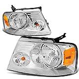 ford headlights f150 - Ford F150 11th Gen Chrome Housing Amber Corner Headlight