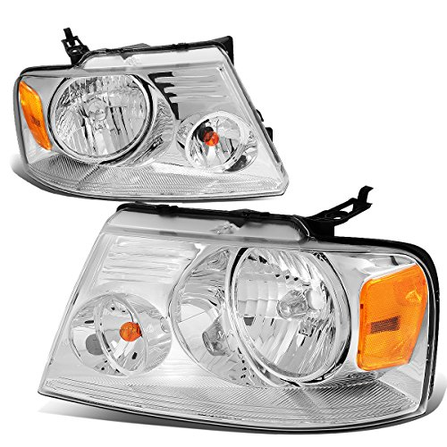Ford F150 11th Gen Chrome Housing Amber Corner Headlight