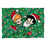 I Love Lucy Christmas Holiday Dance Pillow Case