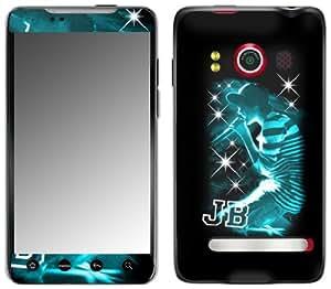 MusicSkins, MS-JB130132, Justin Bieber - Sparkle Blue, HTC Evo 4G, Skin