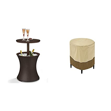 Strange Keter 7 5 Gal Cool Bar Rattan Style Outdoor Patio Pool Cooler Table Brown W Classic Accessories Veranda Cover Interior Design Ideas Inesswwsoteloinfo