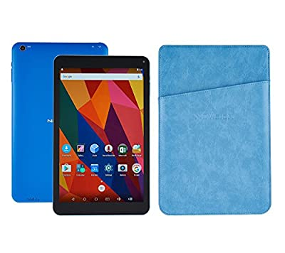 Nuvision 10.1-inch IPS Touchscreen Tablet PC Android 6.0,1.3GHz Cortex-A7 quad-core processor,16GB with Wifi Bluetooth and Camera,includes Sleeve