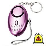 Yamii Personal Alarm 130DB Police Approved Mini Super Loud Emergency Personal Security Alarm Self Defense Alarm with Keychain with LED Light for Women Girls Kids