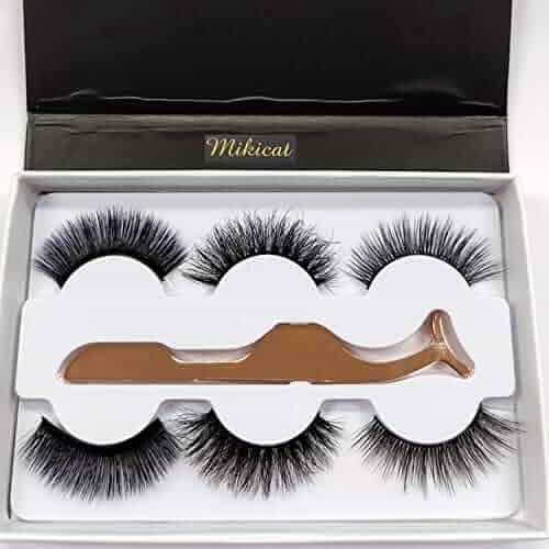 914327687af Mikicat Fluffy Lashes Mink Full Volume 100% Siberian 3D Mink Fake Eyelashes  Cruelty-Free