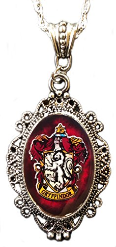 Crest Jewelry Pendant (Alkemie Harry Potter Gryffindor House Crest Cameo Pendant Necklace)