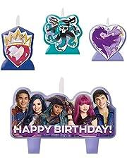 amscan AMI 174957 Disney Descendants Birthday Candle Purple, Green, Blue, Standard