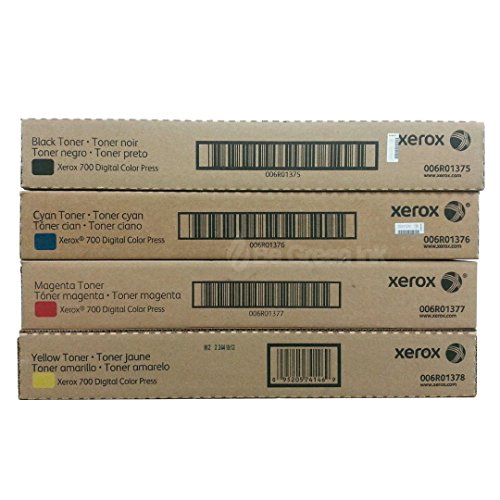 Xerox 700 Toner Cartridge (Black,Cyan,Magenta,Yellow,4-Pack)