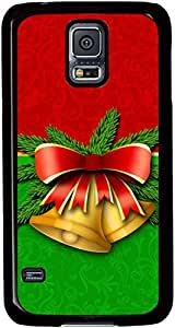 Christmas-Bells-Holiday Cases for Samsung Galaxy S5 I9600 with Black sides