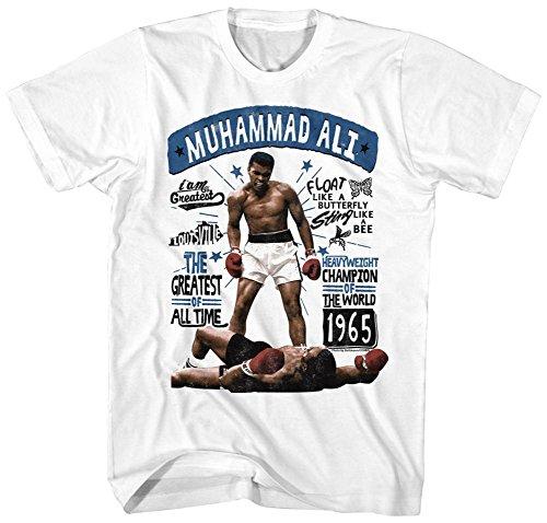 Muhammad Ali- Floating Greatness T-Shirt - Weiß