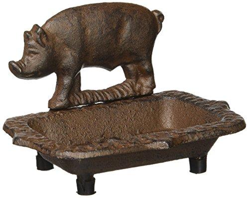 Motif Cast Iron - Pig Motif Cast Iron Antique Look Soap Dish