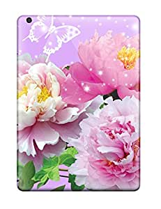 New Flowers And Butterflies Tpu Cases Covers, Anti-scratch YZF623jCwQ Phone Cases For Ipad Air