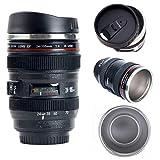 Camera Lens Coffee Mug/Cup With Lid,Photo Coffee Mugs Stainless Steel Travel Lens Mug Thermos TMANGO